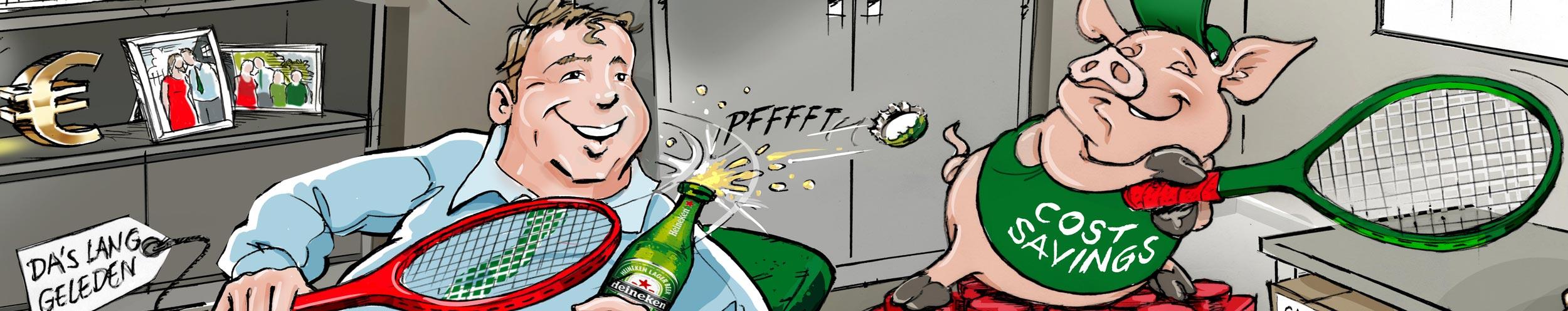 karikatuur-cadeau-banner-Heineken-2